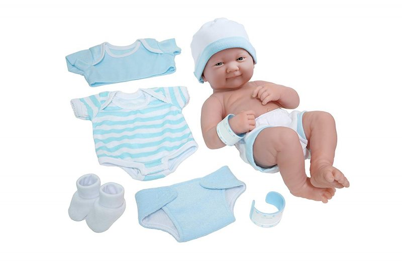 LA Newborn 8-Piece Layette Baby Doll Gift set